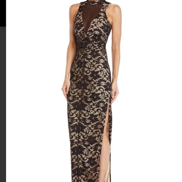 c640460d5 Emerald Sundae Dresses | Lace Illusion Nude Gown | Poshmark